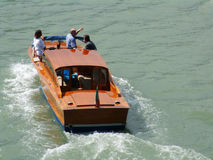 Taxi Launch boat. Motor Launch with people on board Royalty Free Stock Photography