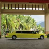 Taxi. Limousine taxi service yellow filed for customers royalty free stock photography