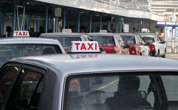 Taxi line. In Hong Kong Royalty Free Stock Images