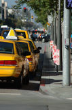 Taxi line. At Santa Monica Boulevard stock photo