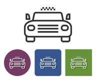 Taxi line icon. In different variants royalty free illustration