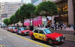 Taxi line up Hong Kong, China Royalty Free Stock Photography