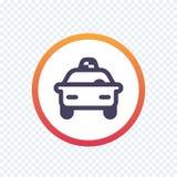 Taxi, linea icona della carrozza Fotografia Stock Libera da Diritti
