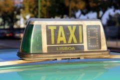 Taxi Lisboa Foto de Stock Royalty Free