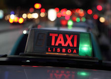 Taxi in Lisbon Stock Photography
