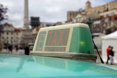 Taxi in Lisbon. Portugal. Europe Royalty Free Stock Images