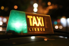 Taxi in Lisbon Stock Photo