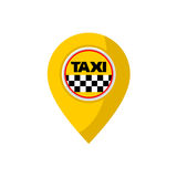 taxi location point design Royalty Free Stock Images