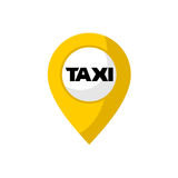 Taxi location point design Royalty Free Stock Photo