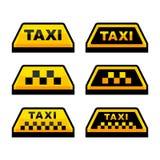 Taxi Logo Set Imágenes de archivo libres de regalías