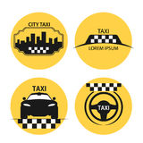 Taxi logo vector. Logos for taxis, taxi icons for the design of booklets and advertising Stock Photography