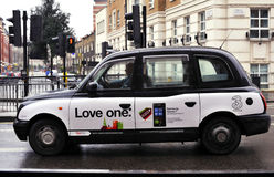 Taxi in London. Image was taken in 28 December 2010 Royalty Free Stock Images