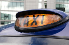 Taxi, London. Royalty Free Stock Image
