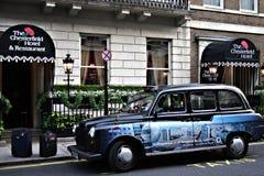 Taxi in London 3 Stockbild