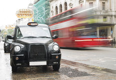 Taxi in London Stock Image