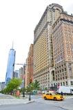 Taxi in Lower Manhattan immagini stock libere da diritti