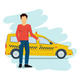 Taxi man isolated on white Royalty Free Stock Photography