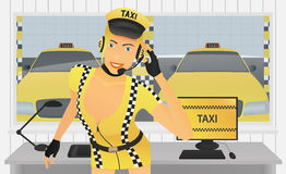 Dispatcher Taxi in Office Royalty Free Stock Photography
