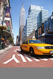 Taxi in Manhattan Royalty Free Stock Photography