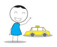 Taxi-Mann Vektor Abbildung
