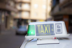 Taxi in Mazarron, Spain Royalty Free Stock Photos