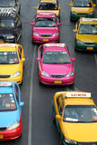 Taxi-Meter. Colorful Taxi-Meter in Bangkok, Thailand in line to pick-up a passengers Royalty Free Stock Photo