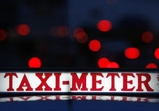 Taxi meter Royalty Free Stock Image