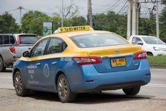 Taxi-Meter chiangmai, Nissan Sylphy Lizenzfreie Stockbilder