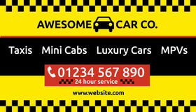 Taxi and mini cab business card design Royalty Free Stock Images