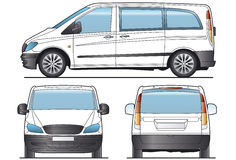 Taxi Minibus Layout. Minibus, bus, Taxi - Layout for presentation - vector vector illustration