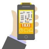 Taxi mobile Immagini Stock
