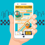 Taxi mobile app template set Stock Image