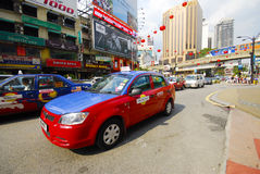 Taxi and Monorail train station kuala lumpur Stock Images