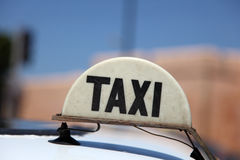Taxi in Morocco Royalty Free Stock Photography
