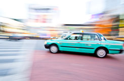 Taxi in motion Royalty Free Stock Photography