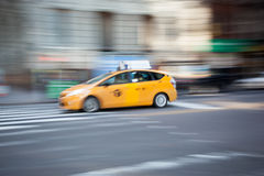 Taxi in Motion Royalty Free Stock Photo