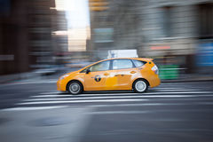 Taxi in Motion Royalty Free Stock Photos