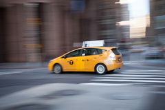 Taxi in Motion Stock Image