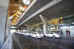 Taxi nahe Barajas-Flughafen Stockfoto