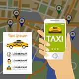 Taxi Navigation Map Royalty Free Stock Photography