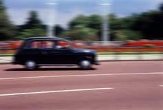 Taxi negro de Londres. Fotografía de archivo