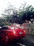 Taxi nella pioggia fotografia stock libera da diritti