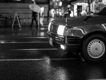 Taxi nella pioggia a Kyoto, Fotografia Stock Libera da Diritti