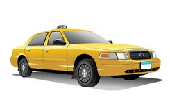 Taxi. New York yellow Taxi vactor and with transparency background (png Stock Image