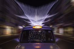Taxi night zoom Stock Photo