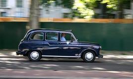 Taxi noir Photographie stock