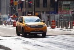 Taxi, Nueva York Imágenes de archivo libres de regalías