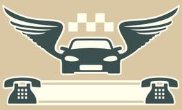 Taxi o cartão Imagem de Stock
