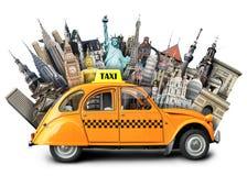 Taxi och lopp Arkivbilder