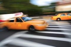 Taxi - onduidelijk beeld Stock Afbeelding